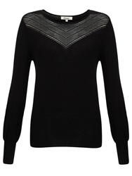Alice By Temperley Somerset By Alice Temperley Pointelle Knit Jumper Black