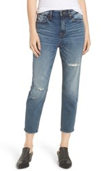 Vigoss Friday Distressed Tapered Boyfriend Jeans Medium Wash