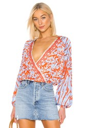 Free People Cruisin Together Blouse Red