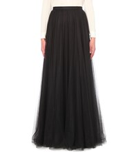 Jenny Packham Flared Tulle Skirt Black