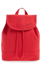 State Bags Park Slope Hattie Canvas Backpack Red