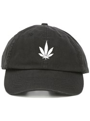 Palm Angels Weed Vintage Cap Black