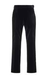 Lanvin Velvet Crop Pants Black