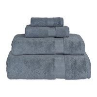 Dkny Mercer Plain Dye Towel Denim Blue