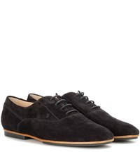 Tod's Suede Oxford Shoes Black
