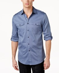 Inc International Concepts Men's Liam Long Sleeve Shirt Only At Macy's Navy