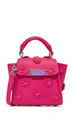 Zac Posen Eartha Iconic Floral Mini Bag Magenta