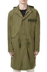 Men's Topman Oversized Military Parka With Detachable Hood
