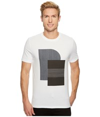 Perry Ellis Pe Logo Crew Bright White Men's Clothing
