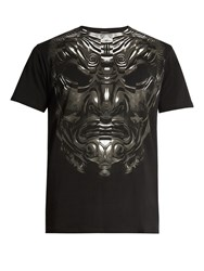 Marcelo Burlon Romeo Cotton Jersey T Shirt Black Multi