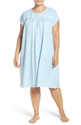 Eileen West Plus Size Women's Print Cap Sleeve Nightgown