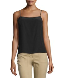 Halston Slim Fit Silk Camisole Black