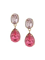 Jennifer Behr Multicoloured Earrings Pink And Purple