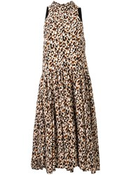 Camilla And Marc Willow Flared Dress Brown