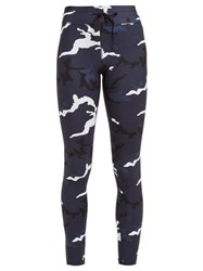 The Upside Marine Camouflage Print Leggings Blue Print