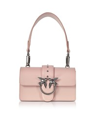 Pinko Mini Love Antique Pink Leather Shoulder Bag