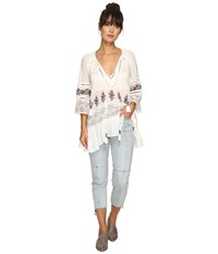 Free People You're Mine Peasant Tunic Ivory Combo Women's Clothing Multi