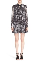 Women's Just Cavalli 'Tattoo' Print Drop Waist Dress