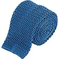 Barneys New York Men's Crochet Neck Tie Light Blue