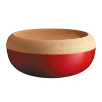 Emile Henry Two Part Fruit And Vegetable Storage Bowl Red