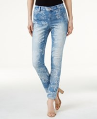 Inc International Concepts Petite Floral Jacquard Skinny Jeans Only At Macy's Indigo