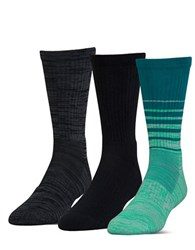 Under Armour Ua Phenom Twisted Crew Socks 3 Pack Green Assorted