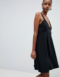 Selected Kassia A Line Midi Dress Black