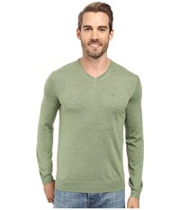 Calvin Klein Merino Moon And Tipped V Neck Sweater Italian Lime Men's Sweater Green