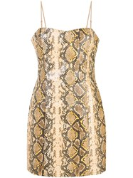 Likely Snake Effect Mini Dress Gold