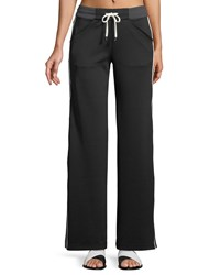 Blanc Noir Vista Straight Leg Drawstring Track Pants Black Gray