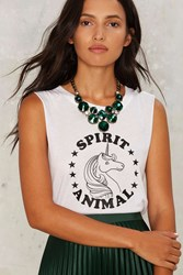 Social Decay Spirit Animal Muscle Tee White