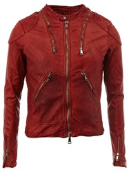 Giorgio Brato Multi Zipper Jacket Red