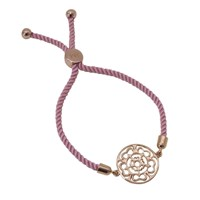 Hoochie Mama Rose Medallion Friendship Bracelet Rose Gold