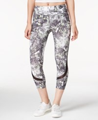 Calvin Klein Performance Printed Cropped Leggings Mint