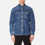 Carhartt Men's Long Sleeve Union Denim Shirt Blue True Stone