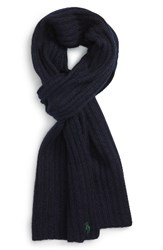 Polo Ralph Lauren Men's Ribbed Cashmere And Wool Scarf