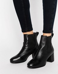 Park Lane Mid Heel Chelsea Boots Black Leather