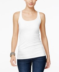 Inc International Concepts Scoop Neck Tank Top Only At Macy's Bright White