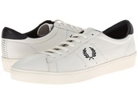 Fred Perry Spencer Leather Porcelain Navy 1 Men's Shoes White