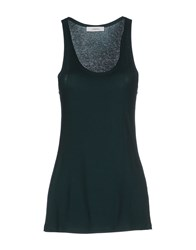 .. Merci Topwear Vests Women Green