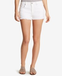 William Rast Star Embroidered Denim Shorts Star White