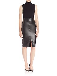 Bailey 44 Reed Faux Leather Contrast Dress Marengo