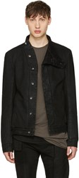Rick Owens Drkshdw Black Denim Slave Jacket