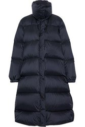 Mansur Gavriel Woman Quilted Shell Down Coat Midnight Blue