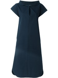 Societe Anonyme Cape Shirt Dress Blue