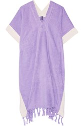 Lisa Marie Fernandez Cotton Terry Poncho Purple