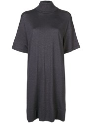 Brunello Cucinelli Turtle Neck Dress Black