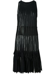 Missoni Fringed Knitted Dress Black