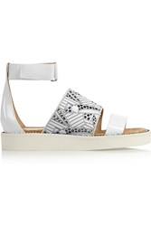 Nicholas Kirkwood Peter Pilotto Cutout Leather Sandals White