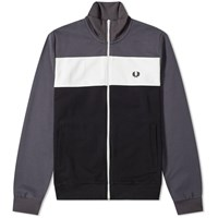 Fred Perry Authentic Colour Block Track Jacket Grey